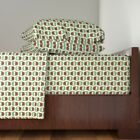 Camouflage Hedgehog Kawaii Green Green Cotton Sateen Sheet Set by Roostery