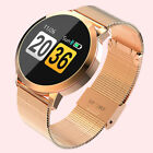 Lady Woman Round Smart Watch HeartRate Monitor Bracelet Wristband forAndroid IOS