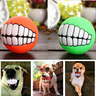Funny Pets Dog Puppy Ball Teeth Toy PVC Chew Sound Dogs Play Fetching Squeak