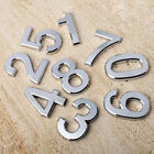 1PC Plated Plastic Room House Number Floating Appearance Silver  Self Stick