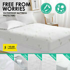 Bamboo Cotton Waterproof Mattress Cover Protector all sizes  Hypoallergenic NEW image