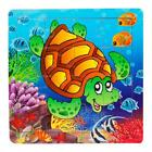 16 PCS Wooden Jigsaw Puzzles Toys with Animals For Kids Education And Learning L
