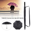 Windproof Large 61 Inch Golf Umbrella Vented Double Canopy Automatic Open K4X2