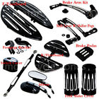 For Harley Touring Floorboard+Shift Lever+Linkage Pedal+rearview mirror Mounting image