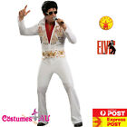 Mens Elvis Presely Costume White King 50s 1950s Rock N Roll 1950s Star Jumpsuit