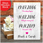 Memorable Dates Gifts Personalised Anniversary Presents for Her Him Husband Wife