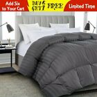 Luxury soft stripe Goose Down Alternative Comforter Twin Queen King Size,8Colors image