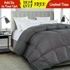 Luxury soft stripe Goose Down Alternative Comforter Twin Queen King Size,4Colors image