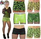 WET LOOK PLAIN GRAFFITTI ZEBRA SHORTS HOT PANTS GOTH ALTERNAIVE PUNK PARTY CLUB