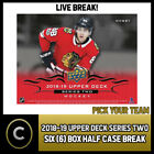2018-19 UPPER DECK SERIES 2 HOCKEY 6 BOX HALF CASE BREAK #H242 - PICK YOUR TEAM $10.0 CAD on eBay