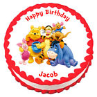 WINNIE THE POOH Edible Party Cake topper image