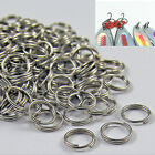 50/100 X Stainless Steel Split Rings Blank Lures Fishing Connector Lure Ring vn