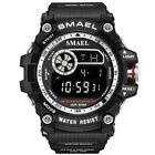 SMAEL Men Military Watches Army Digital Wristwatch LED Rubber Watch Shockproof image