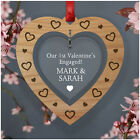 First Valentines Engaged PERSONALISED Gifts for Engaged Couples Fiancee Fiance