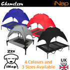 Premium Elevated Pet Dog Bed Roof canopy Red Black Blue Grey M30