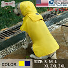 Cool Large Dog Raincoat Hoodie Jacket Pet Waterproof Reflective Safety Rain Coat