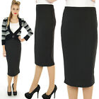 SCUBA WIGGLE PENCIL SKIRT  50'S VINTAGE BLACK ROCKABILLY RETRO ALTERNATIVE