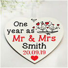 PERSONALISED 1st 10th 25th Wedding Anniversary Gifts for Her Him Wife Husband