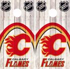 Calgary Flames Cornhole Skin Wrap NHL Hockey Wood Decal Vinyl Sticker DR470 $39.99 USD on eBay