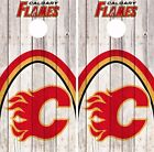 Calgary Flames Cornhole Skin Wrap NHL Game Decal Vinyl Sticker Logo DR471 $39.99 USD on eBay