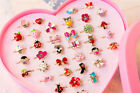 Fashion Adjustable Kids Sweet Alloy Ring Children Costume Jewelry Toy Gift