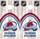 Colorado Avalanche Cornhole Skin Wrap NHL Hockey Wood Decal Vinyl Sticker DR476 $39.99 USD on eBay