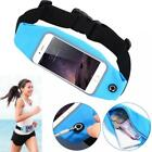 BLUE SPORTS RUNNING WORKOUT WAIST BAG BELT PHONE CASE COVER TOUCH SCREEN - J95