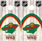 Minnesota Wild Cornhole Skin Wrap NHL Wood Decal Decor Art Vinyl Sticker DR490 $39.99 USD on eBay