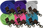Внешний вид - Showman 7.5 ft Long COTTON ROPING REINS with Scissor Snap Ends
