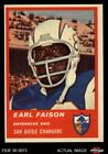 1963 Fleer #77 Earl Faison Chargers Indiana 6 - EX/MT $12.5 USD on eBay