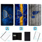 St. Louis Blues Passport Holder Leather Cover Cards ID Travel Wallet $4.99 USD on eBay