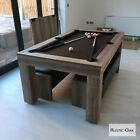 Milano Pool & Entertainment Dining Table Wood Effect Seats 6-8 **PRICE MATCH** £2101.5 GBP on eBay