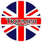 #G220 Triumph Union Jack  GB UK Decal Sticker Fully Laminated Vinyl $3.99 USD on eBay
