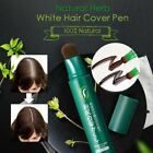Natural Herb White Hair Cover Pen Long-Lasting Black Brown Temporary Hair Dye