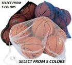 "Mesh Sports Equipment Ball Bag Heavy Duty Nylon LARGE SIZE 24"" X 36"" (5 COLORS) $7.99 USD on eBay"