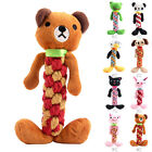 Pet Puppy Teddy Dog Toy Plush Rope Tough Strong Chew Knot  Grinding Teeth Bear