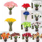 Artificial Latex Real Touch Fake Flower Wedding Home Decor Bridal Bouquet Us