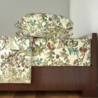 Rococo Georgian Baroque Floral Flowers Cotton Sateen Sheet Set by Roostery image