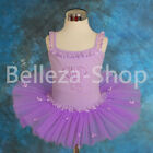 Girl Embroidery Ballet Tutu Dance Costume Fancy Fairy Dress Sz 2T 3T 4 5 6 BA023