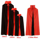 Halloween Black Red Vampire Cape Dracula Devil Cloak Kids Dress Costume Cosplay