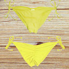 V Cheeky Brazilian Thong Bikini Bottoms Women String Micro Tiny Scrunch Swimwear