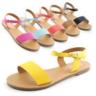 Weeboo Womens Ankle Strap Buckle Flat Sandals Lori 4 Adults