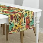 Table Runner International Exotic James Bond Red Yellow Orange Cotton Sateen $59.0 USD on eBay