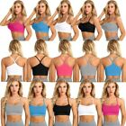 Womens Casual Short Vest Sleeveless Cami Camisole Slim Fit Crop Tank Tops Blouse