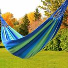 Outdoor Canvas Hammock Camping Nylon Parachute Swing Hanging Sleeping Rest Bed