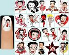 BETTY BOOP Nail Art Decals + Free Gems Dog Sassy Sexy Pudgy Logo Love Heart Kiss $7.11 CAD on eBay