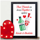PERSONALISED Gifts for Best Friends BFF Work Colleagues Birthday Novelty Print