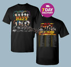 KISS 2019 'End of the Road' World Tour concert 2 side T-shirt Size Men Black all image