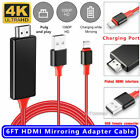 Lightning to 1080p 8Pin HDMI HDTV AV TV Adapter Cable Cord For iPhone 6/7/8/X/11