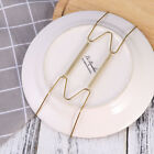 Pack of 6/10 8-Inch Spring Style Invisible Plate Tray Dish Wire Hanger